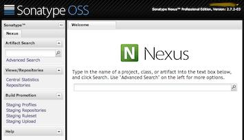 OSSRH Nexus - build promotion menu