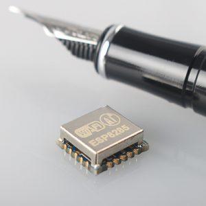 ESP8285 is like a tiny ESP8266 plus 1MB embedded SPI flash memory
